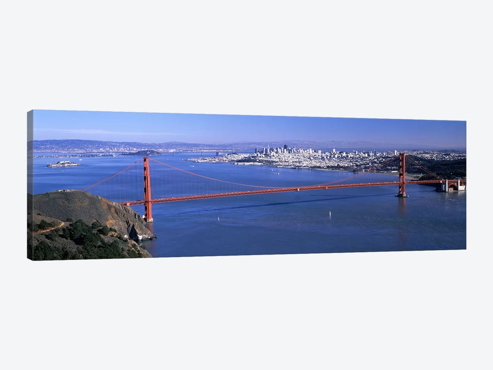 High angle view of a suspension bridge, Golden Gate Bridge, San Francisco, California, USA #4 by Panoramic Images 1-piece Canvas Art Print
