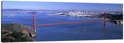 High angle view of a suspension bridge, Golden Gate Bridge, San Francisco, California, USA #4 Canvas Art Print
