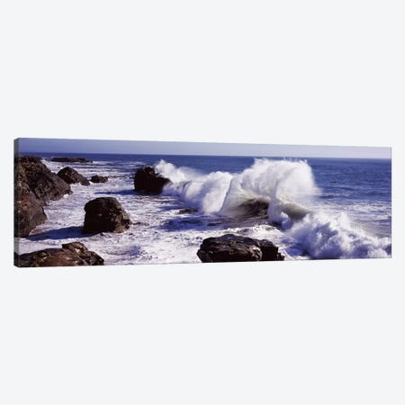 Crashing Waves, Santa Cruz County, California, USA Canvas Print #PIM7582} by Panoramic Images Canvas Wall Art