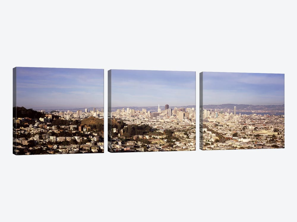 High angle view of a city, San Francisco, California, USA #2 by Panoramic Images 3-piece Art Print