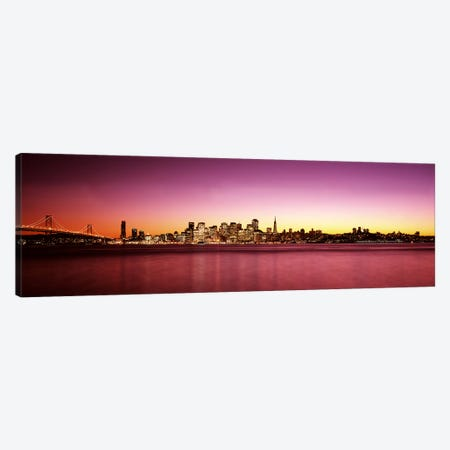 Buildings at the waterfront, Bay Bridge, San Francisco Bay, San Francisco, California, USA Canvas Print #PIM7593} by Panoramic Images Art Print