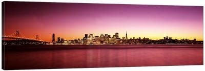 Buildings at the waterfront, Bay Bridge, San Francisco Bay, San Francisco, California, USA Canvas Print #PIM7593