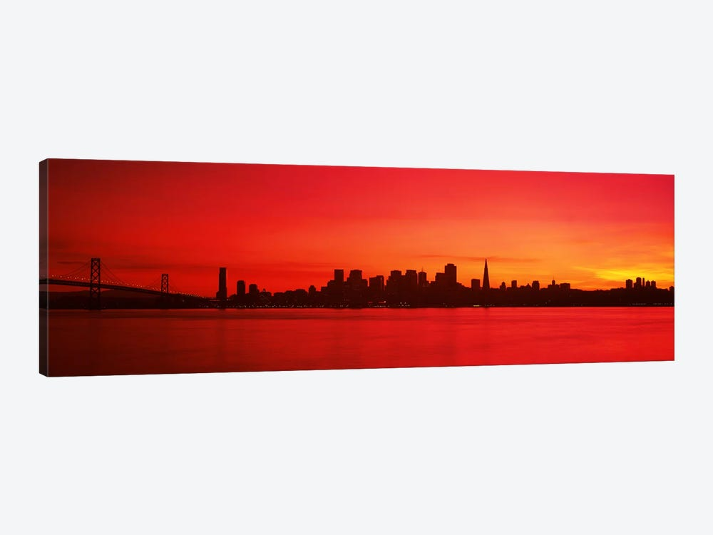 Buildings at the waterfront, Bay Bridge, San Francisco Bay, San Francisco, California, USA #2 by Panoramic Images 1-piece Canvas Art Print