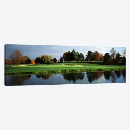 Pond-side Green, 8th Hole, Westwood Country Club, Vienna, Fairfax County, Virginia, USA Canvas Print #PIM7600} by Panoramic Images Canvas Print