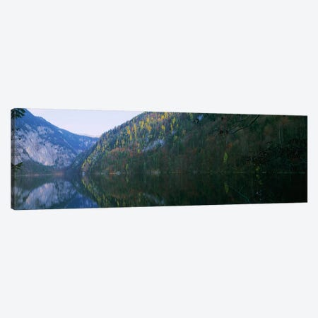 Lake in front of mountainsLake Toplitz, Salzkammergut, Austria Canvas Print #PIM7604} by Panoramic Images Canvas Wall Art