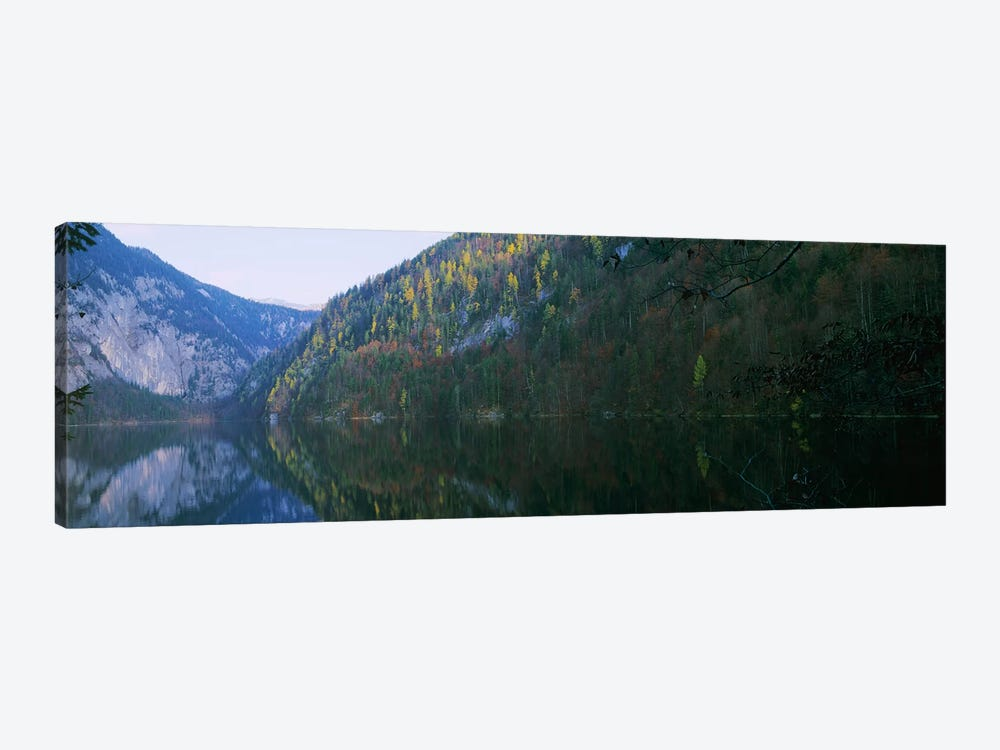 Lake in front of mountainsLake Toplitz, Salzkammergut, Austria by Panoramic Images 1-piece Canvas Artwork