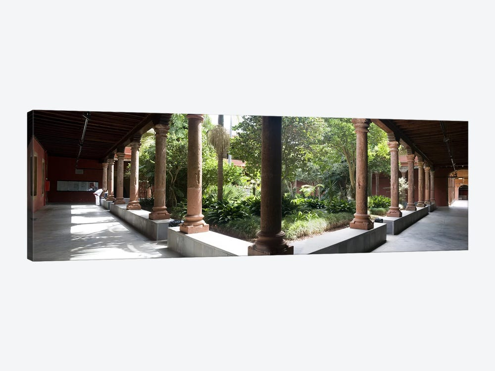 Colonnade of a churchChurch of San Agustin, San Cristobal De La Laguna, Tenerife, Canary Islands, Spain by Panoramic Images 1-piece Canvas Artwork