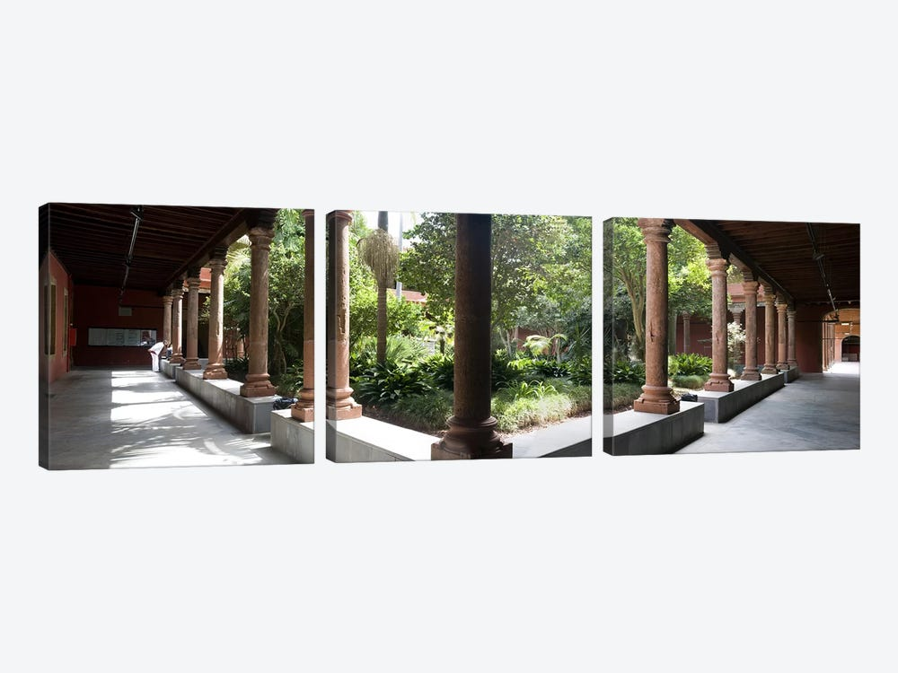 Colonnade of a churchChurch of San Agustin, San Cristobal De La Laguna, Tenerife, Canary Islands, Spain by Panoramic Images 3-piece Canvas Artwork