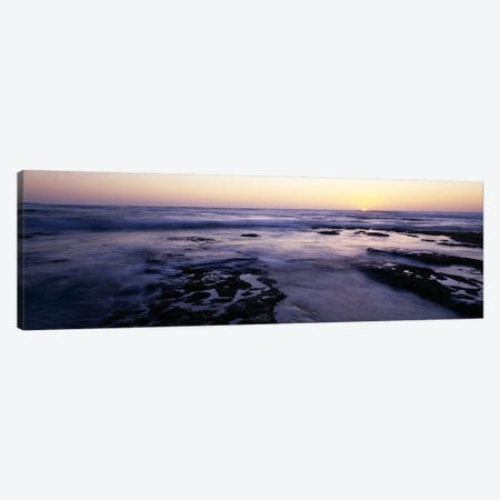 Waves in the seaChildren's Pool Beach, La Jolla Shores, La Jolla, San Diego, California, USA Canvas Print #PIM7616} by Panoramic Images Canvas Art Print