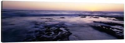 Waves in the seaChildren's Pool Beach, La Jolla Shores, La Jolla, San Diego, California, USA Canvas Print #PIM7616