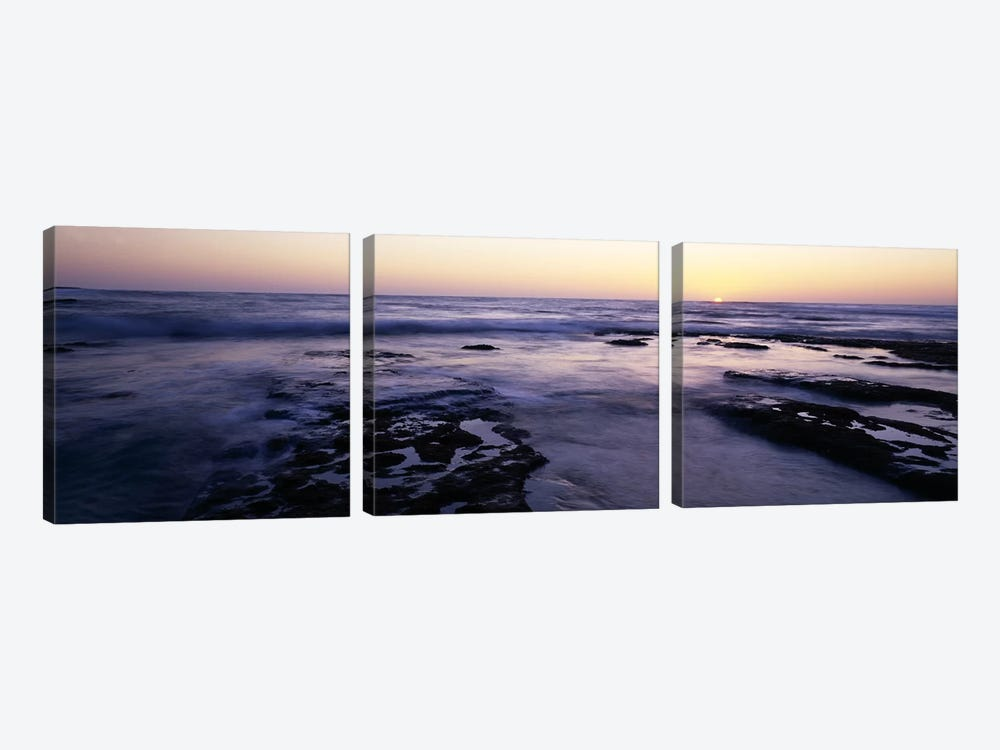 Waves in the seaChildren's Pool Beach, La Jolla Shores, La Jolla, San Diego, California, USA by Panoramic Images 3-piece Art Print