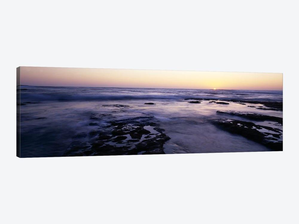 Waves in the seaChildren's Pool Beach, La Jolla Shores, La Jolla, San Diego, California, USA by Panoramic Images 1-piece Canvas Print