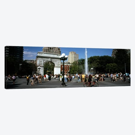 Tourists at a park, Washington Square Arch, Washington Square Park, Manhattan, New York City, New York State, USA Canvas Print #PIM7638} by Panoramic Images Canvas Art