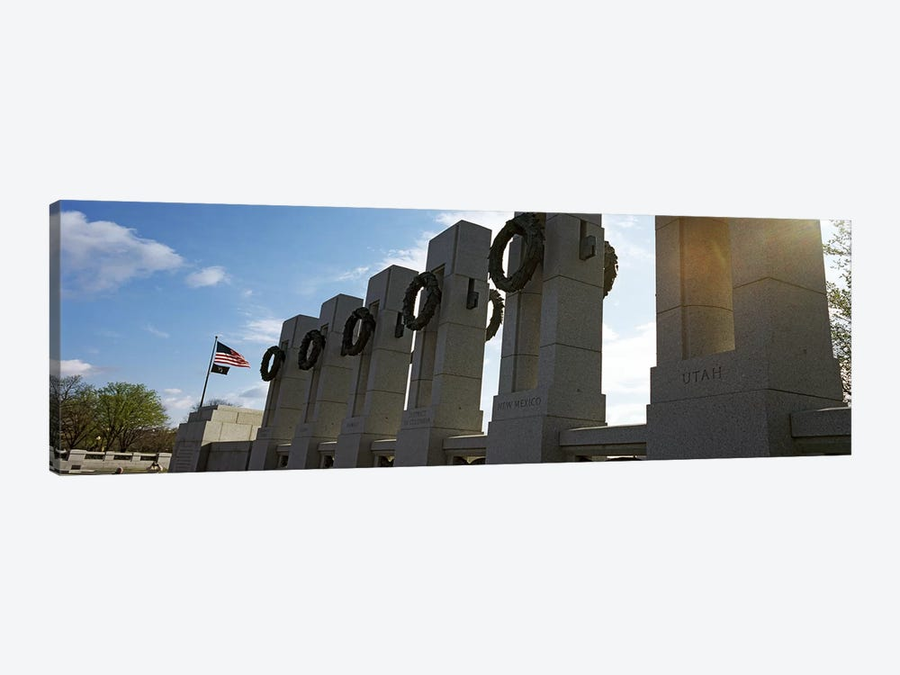 Colonnade in a war memorial, National World War II Memorial, Washington DC, USA 1-piece Art Print