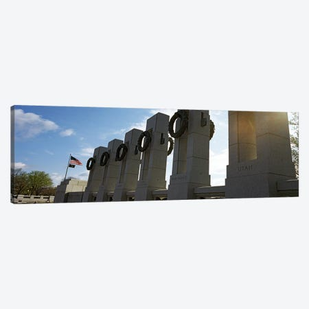 Colonnade in a war memorial, National World War II Memorial, Washington DC, USA Canvas Print #PIM7654} by Panoramic Images Canvas Art Print