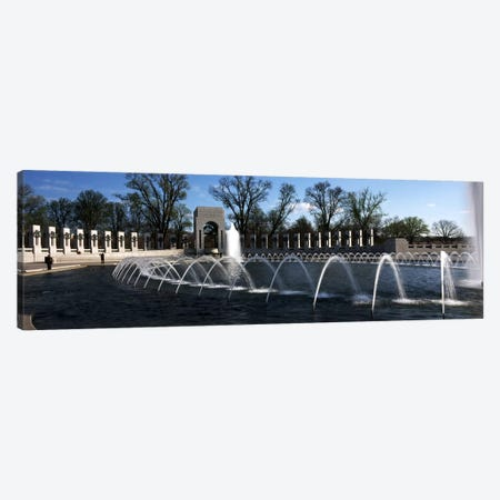 Fountains at a war memorial, National World War II Memorial, Washington DC, USA Canvas Print #PIM7655} by Panoramic Images Canvas Print