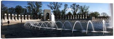 Fountains at a war memorial, National World War II Memorial, Washington DC, USA Canvas Print #PIM7655