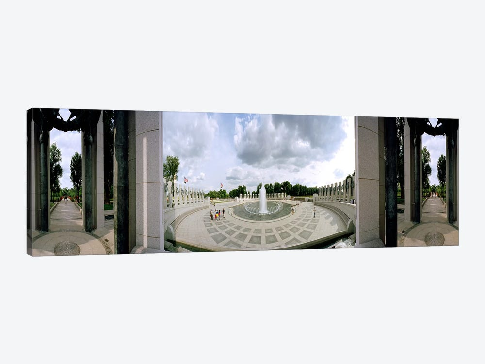 360 degree view of a war memorial, National World War II Memorial, Washington DC, USA by Panoramic Images 1-piece Canvas Artwork