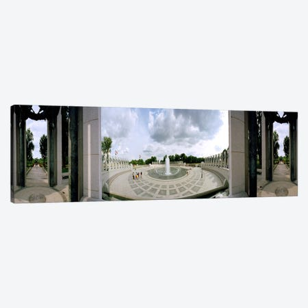 360 degree view of a war memorial, National World War II Memorial, Washington DC, USA Canvas Print #PIM7659} by Panoramic Images Canvas Wall Art