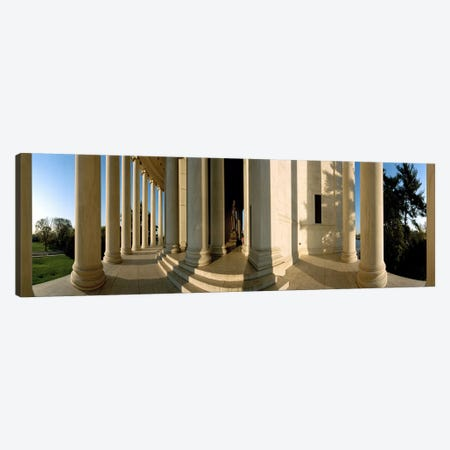 Columns of a memorial, Jefferson Memorial, Washington DC, USA Canvas Print #PIM7660} by Panoramic Images Art Print