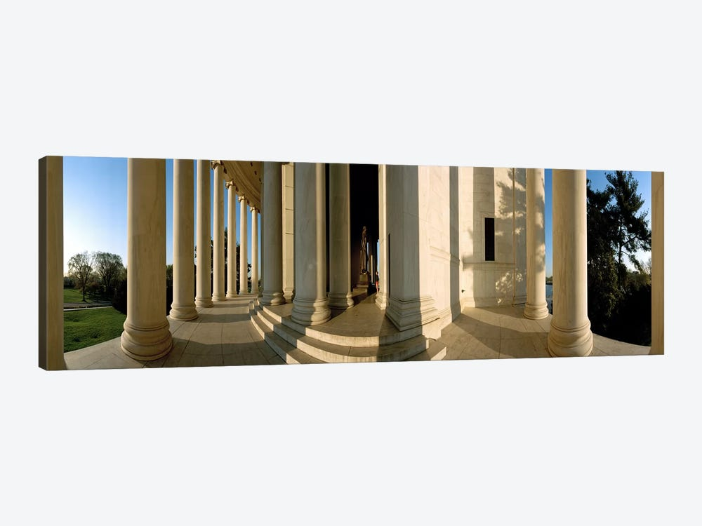 Columns of a memorial, Jefferson Memorial, Washington DC, USA 1-piece Canvas Wall Art