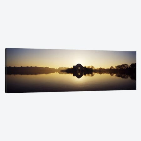 Memorial at the waterfront, Jefferson Memorial, Tidal Basin, Potomac River, Washington DC, USA Canvas Print #PIM7661} by Panoramic Images Art Print