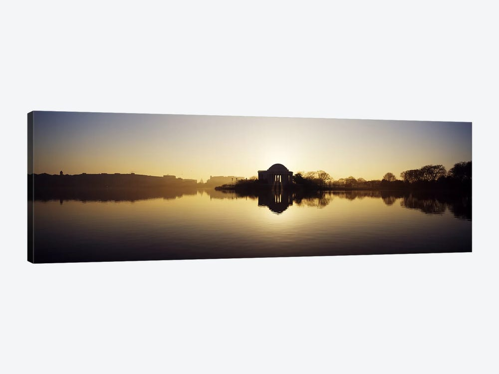 Memorial at the waterfront, Jefferson Memorial, Tidal Basin, Potomac River, Washington DC, USA by Panoramic Images 1-piece Canvas Print