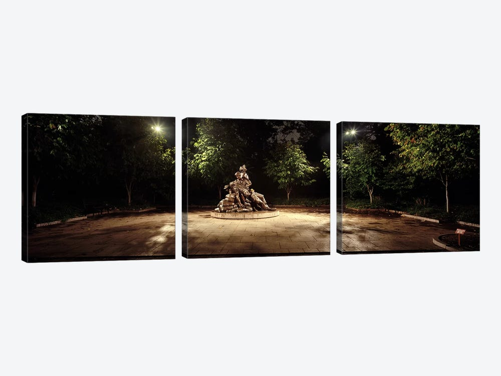 Sculpture in a memorial, Vietnam Women's Memorial, Washington DC, USA by Panoramic Images 3-piece Canvas Wall Art