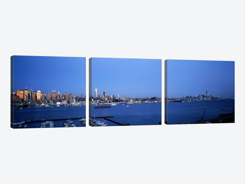 City viewed from Hamilton Park, New York City, New York State, USA by Panoramic Images 3-piece Canvas Art