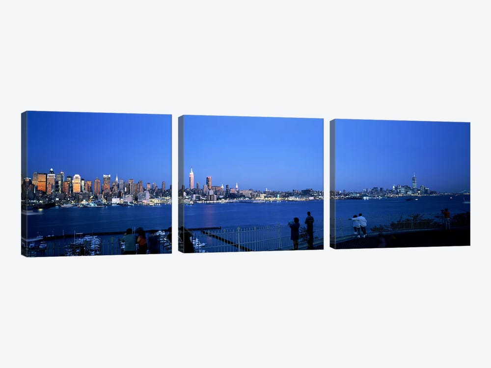 City viewed from Hamilton Park, New York City, New York State, USA #2 by Panoramic Images 3-piece Canvas Print
