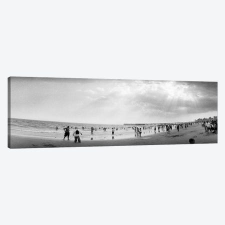 Tourists on the beach, Coney Island, Brooklyn, New York City, New York State, USA Canvas Print #PIM7669} by Panoramic Images Canvas Print