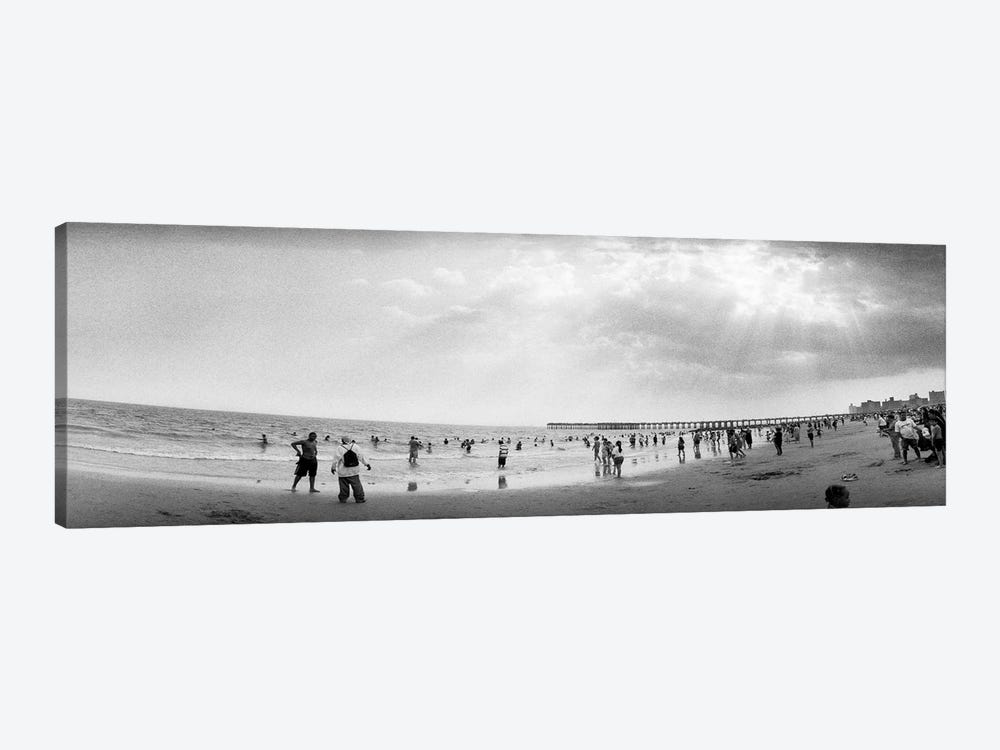 Tourists on the beach, Coney Island, Brooklyn, New York City, New York State, USA by Panoramic Images 1-piece Art Print