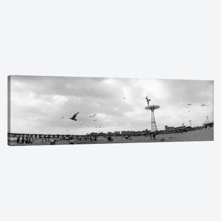 Tourists on the beach, Coney Island, Brooklyn, New York City, New York State, USA #2 Canvas Print #PIM7670} by Panoramic Images Canvas Art