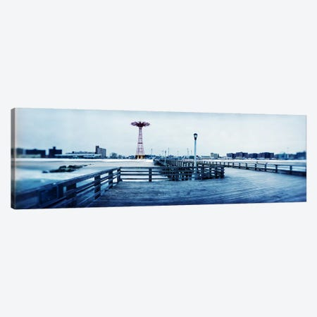 City in winter, Coney Island, Brooklyn, New York City, New York State, USA Canvas Print #PIM7671} by Panoramic Images Canvas Artwork