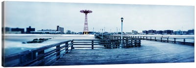 City in winter, Coney Island, Brooklyn, New York City, New York State, USA Canvas Art Print