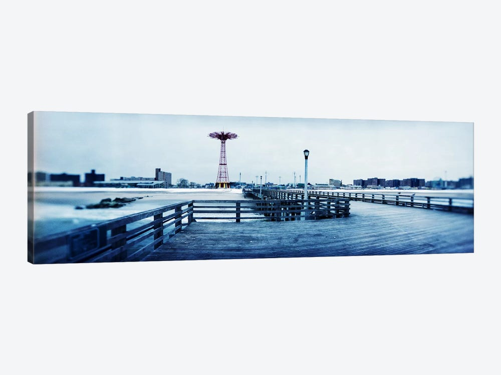 City in winter, Coney Island, Brooklyn, New York City, New York State, USA by Panoramic Images 1-piece Canvas Artwork