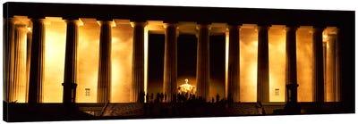 Statue of Abraham Lincoln in a memorial, Lincoln Memorial, Washington DC, USA Canvas Print #PIM7697