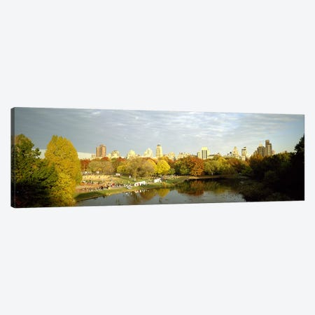 Park with buildings in the background, Central Park, Manhattan, New York City, New York State, USA Canvas Print #PIM7698} by Panoramic Images Canvas Artwork