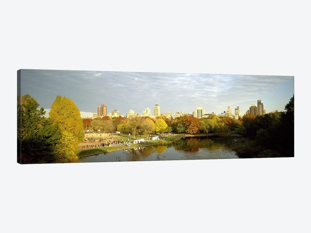 Park with buildings in the background, Central Park, Manhattan, New York City, New York State, USA by Panoramic Images 1-piece Art Print