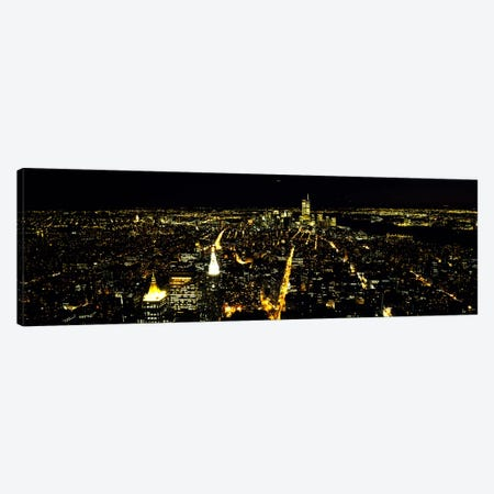Aerial view of a city, New York City, New York State, USA #2 Canvas Print #PIM7700} by Panoramic Images Canvas Art
