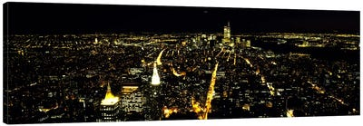 Aerial view of a city, New York City, New York State, USA #2 Canvas Art Print