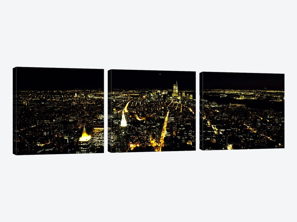 Aerial view of a city, New York City, New York State, USA #2 by Panoramic Images 3-piece Art Print