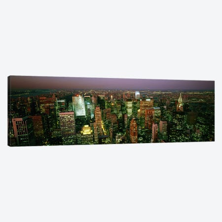 Aerial view of a city, New York City, New York State, USA #3 Canvas Print #PIM7710} by Panoramic Images Art Print