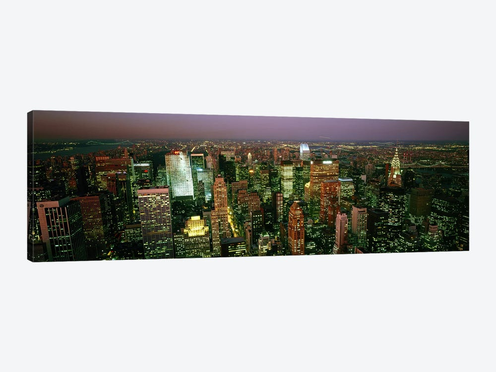 Aerial view of a city, New York City, New York State, USA #3 by Panoramic Images 1-piece Canvas Artwork