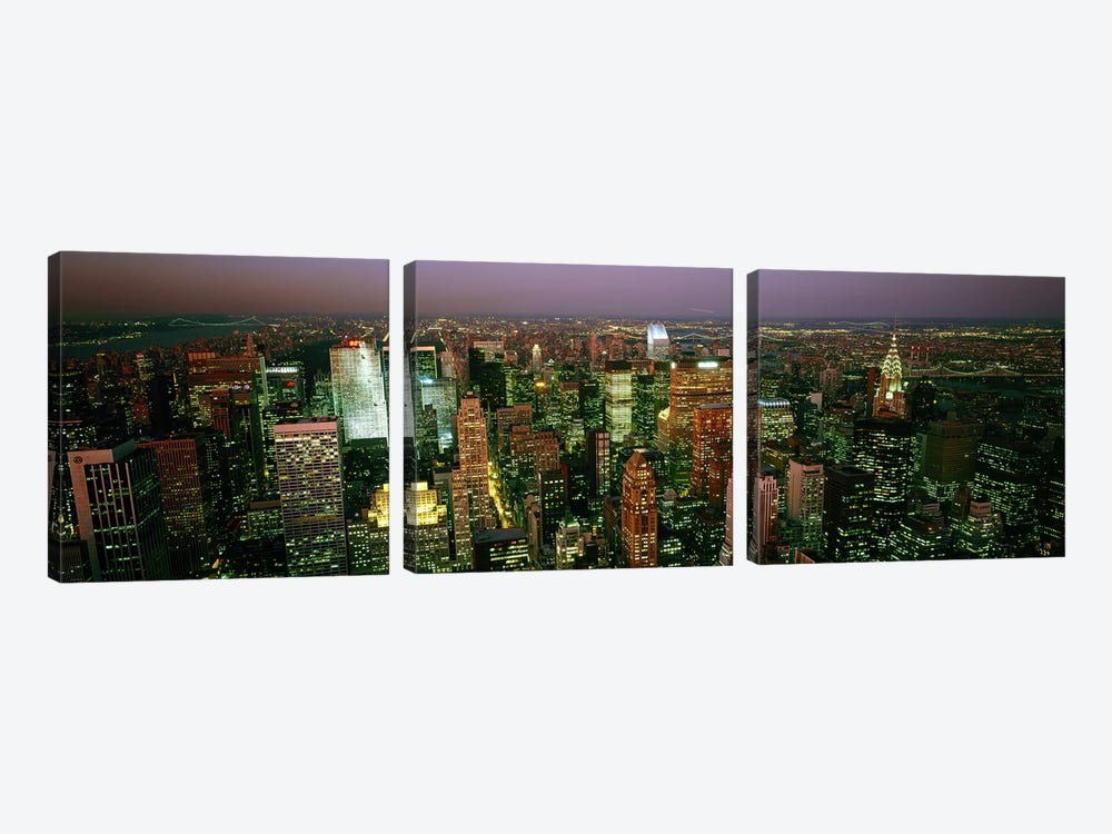 Aerial view of a city, New York City, New York State, USA #3 by Panoramic Images 3-piece Canvas Artwork