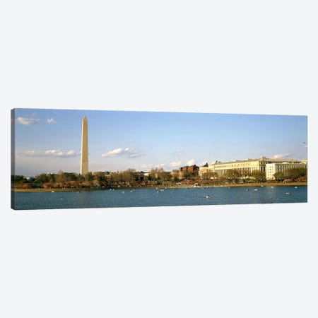 Monument at the riverside, Washington Monument, Potomac River, Washington DC, USA Canvas Print #PIM7711} by Panoramic Images Art Print