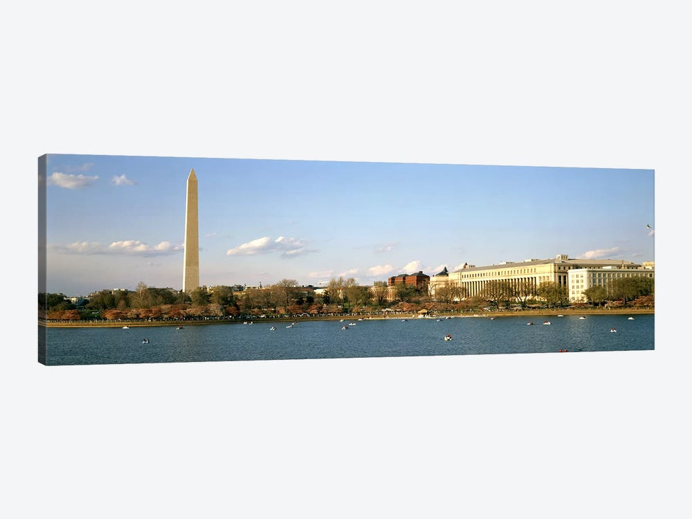 Monument at the riverside, Washington Monument, Potomac River, Washington DC, USA by Panoramic Images 1-piece Art Print