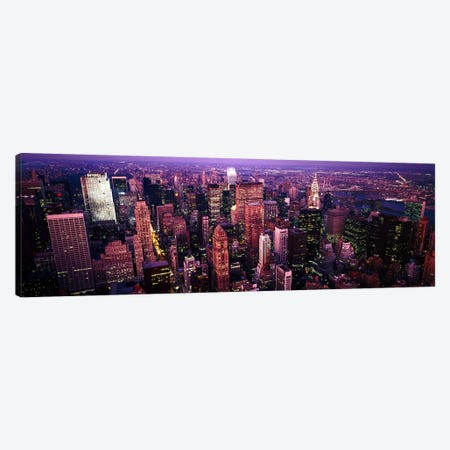Aerial view of a cityManhattan, New York City, New York State, USA Canvas Print #PIM7713} by Panoramic Images Canvas Art Print