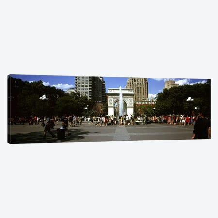 Tourists at a park, Washington Square Arch, Washington Square Park, Manhattan, New York City, New York State, USA #2 Canvas Print #PIM7714} by Panoramic Images Canvas Artwork