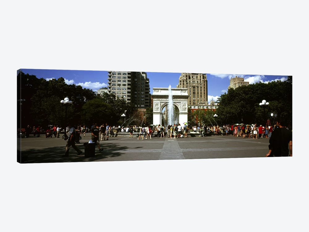 Tourists at a park, Washington Square Arch, Washington Square Park, Manhattan, New York City, New York State, USA #2 by Panoramic Images 1-piece Canvas Artwork